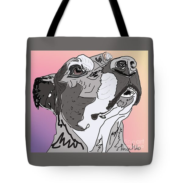Tote Bag featuring the painting Lili by Ania M Milo