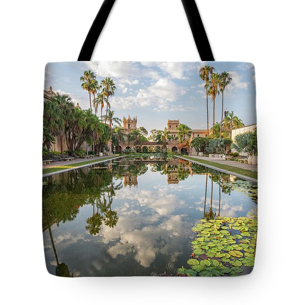 Lilies And Clouds Tote Bag