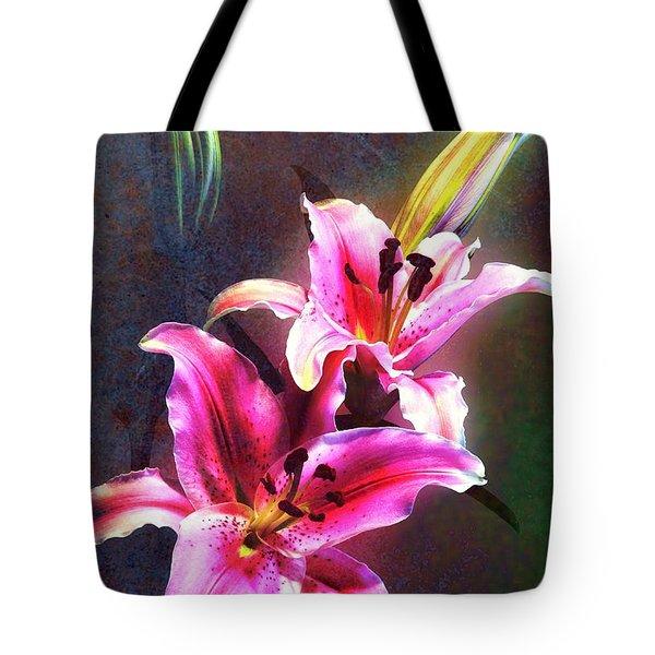 Lilies At Night Tote Bag