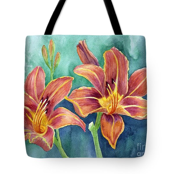 Lilies Tote Bag by Eleonora Perlic