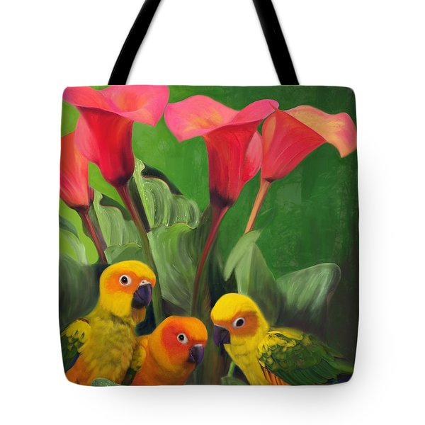 Lilies Grotto  Tote Bag by Julianne  Ososke