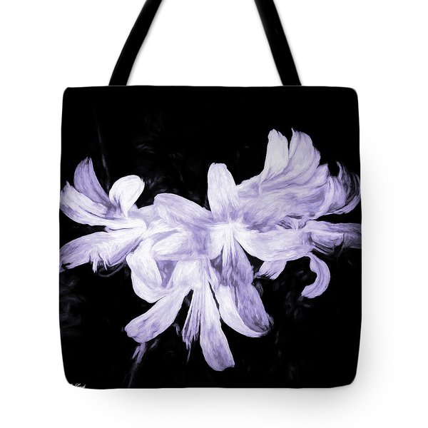 Lilies In Black And White Art Tote Bag