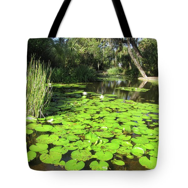 Lilies Of Bok Gardens Tote Bag