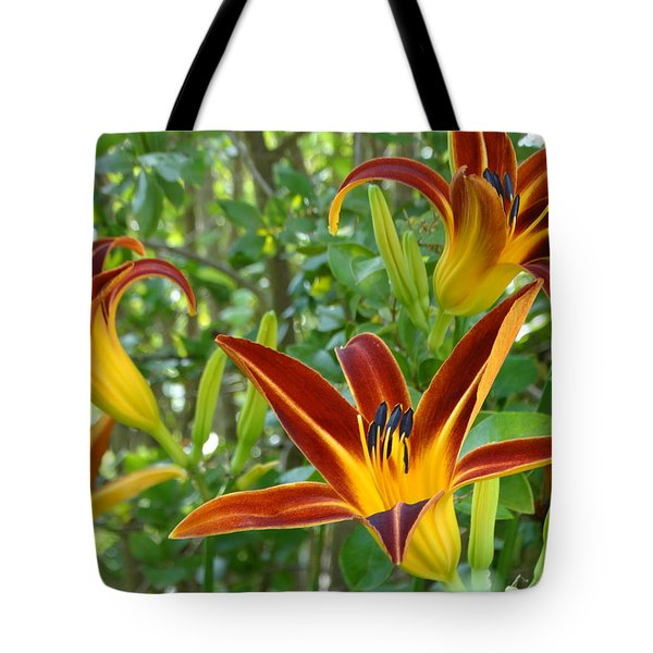 Lilies Sunrise Tote Bag