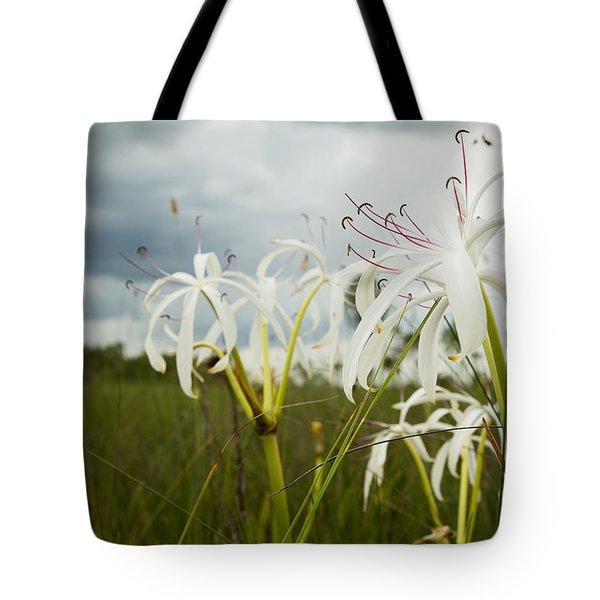 Lilies Thunder Tote Bag