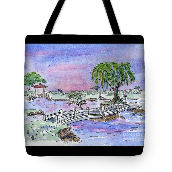 Liliuokalani Park Hilo Hawaii Tote Bag