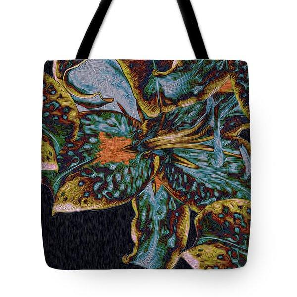 Tote Bag featuring the digital art Lillies 22 by Lynda Lehmann
