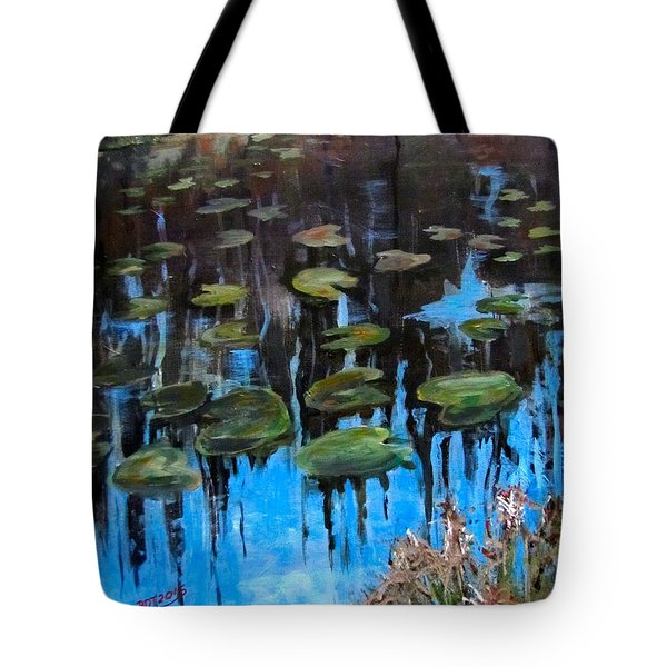 Lilly Pads And Reflections Tote Bag