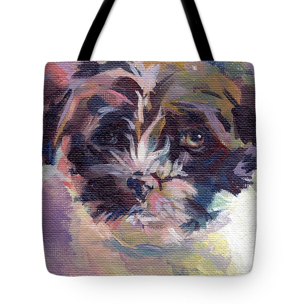 Lilly Pup Tote Bag by Kimberly Santini