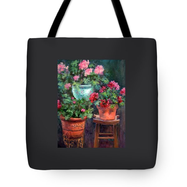 Lil's Geraniums Tote Bag