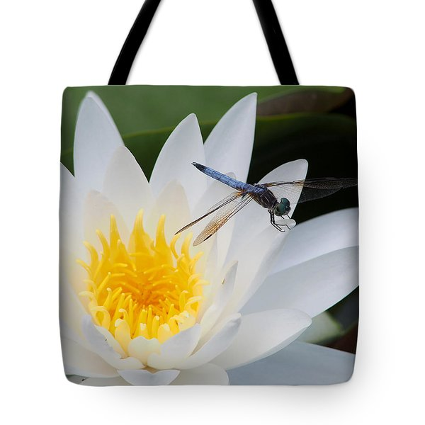 Lily And Dragonfly Tote Bag