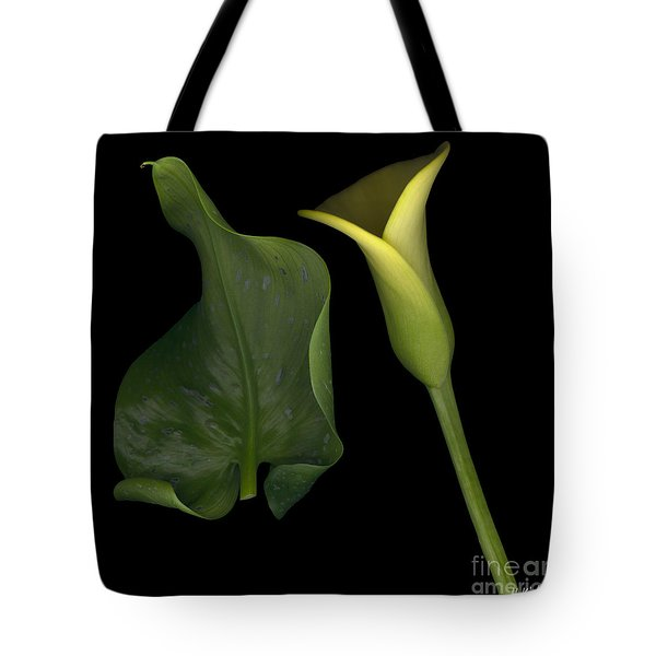 Lily And Leaf Number Two Tote Bag by Heather Kirk