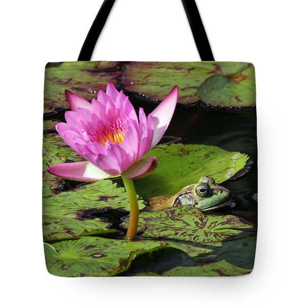 Lily And The Bullfrog Tote Bag