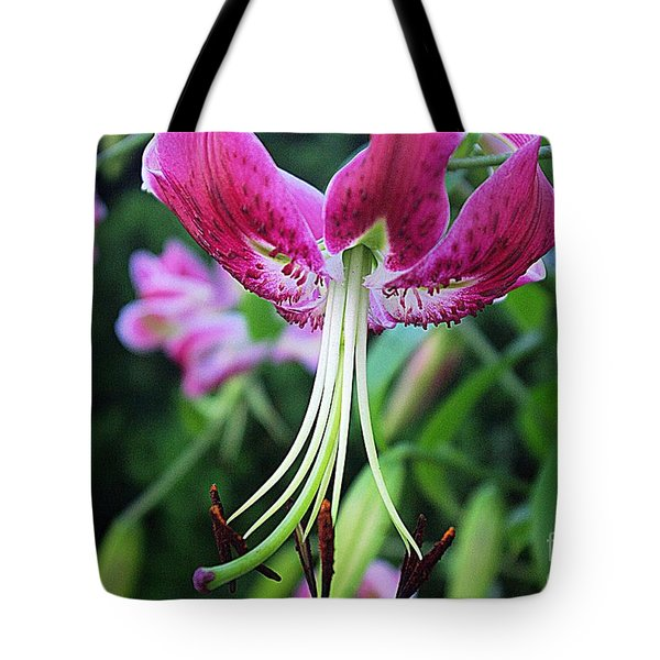 Lily At The Church Tote Bag
