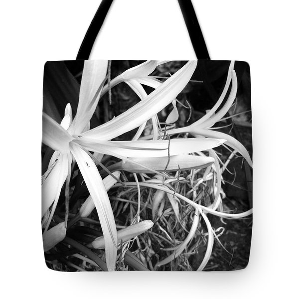 Lily- Black And White  Tote Bag