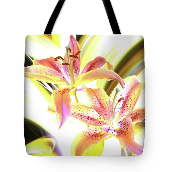 Lily Burst Tote Bag by Andrew Nourse