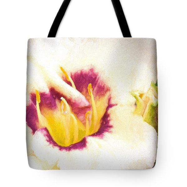 Tote Bag featuring the photograph Lily by Cathy Donohoue