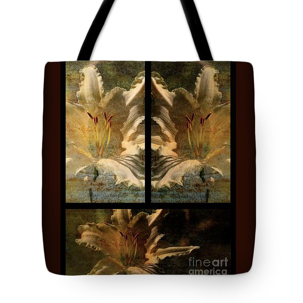 Lily Collage Tote Bag by Lois Bryan