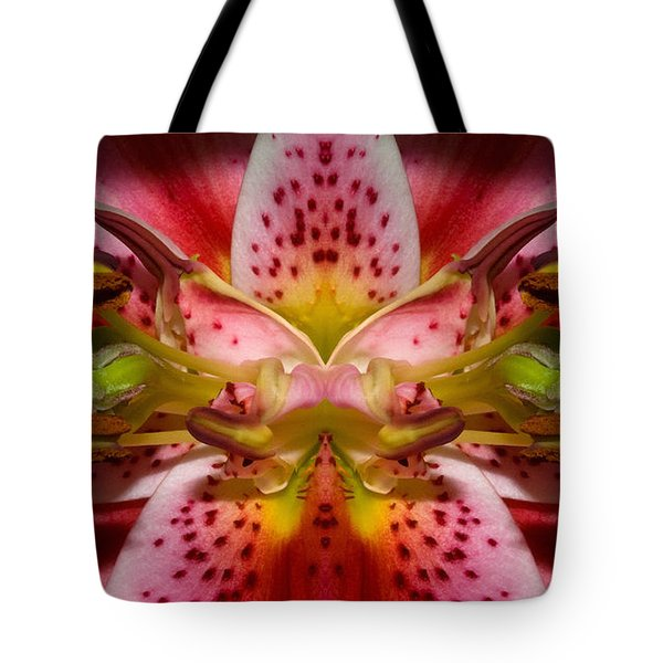 Tote Bag featuring the photograph Lily Embrace by WB Johnston