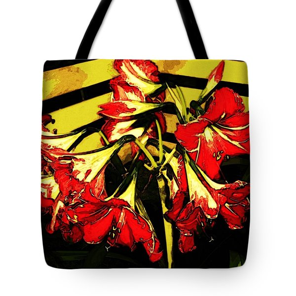 Tote Bag featuring the digital art Lily Gem by Winsome Gunning