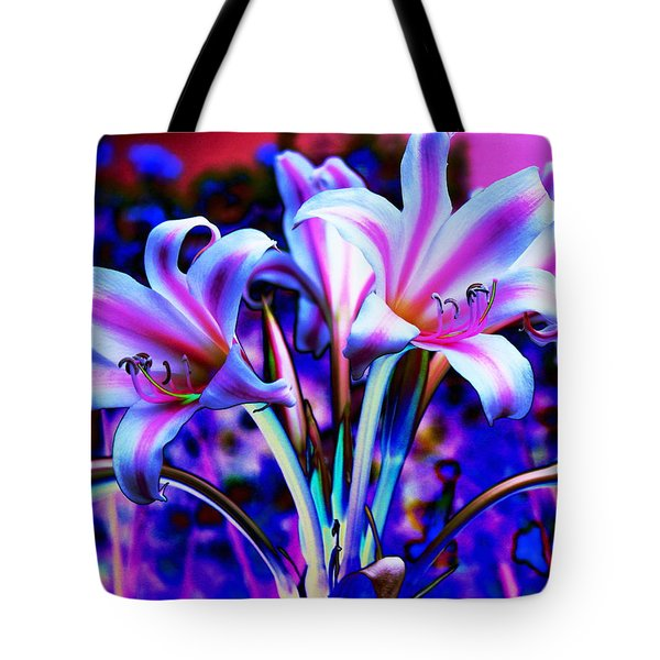 Lily Glow Abstract Tote Bag