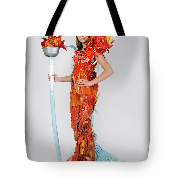 Lily In Fire And Ice Queen Tote Bag