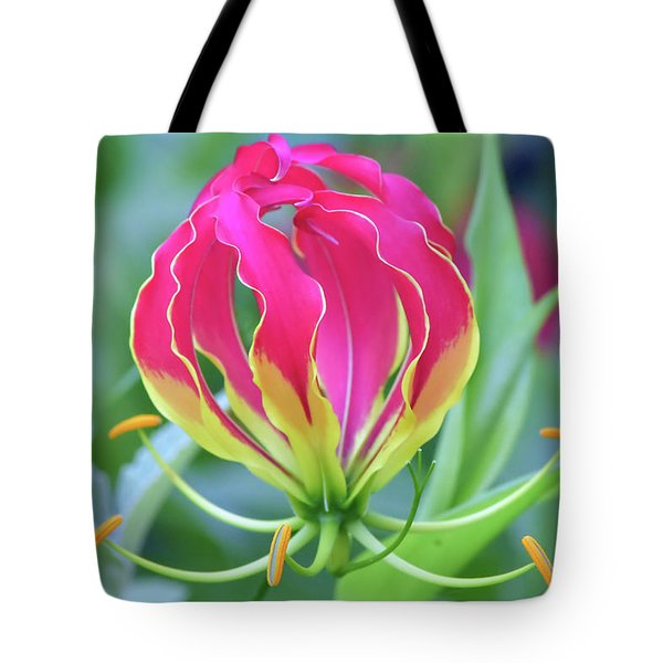 Lily In Flames Tote Bag