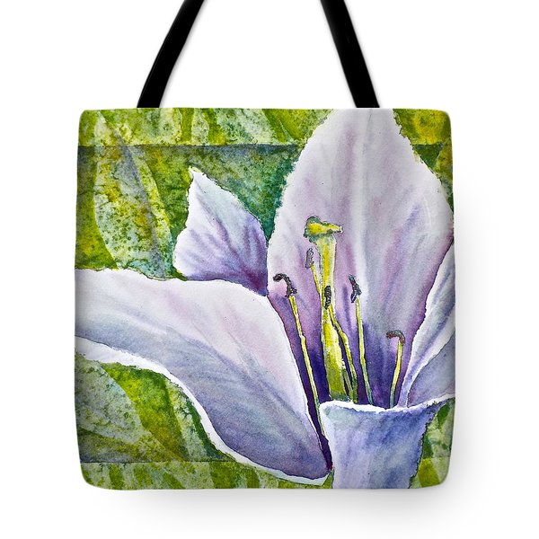Lily In Purple Tote Bag