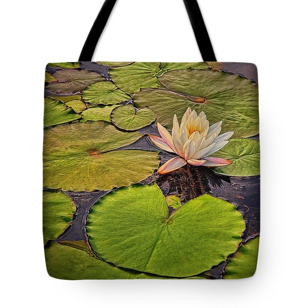 Lily In The Pads Tote Bag
