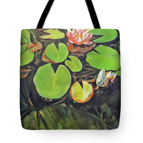 Lily In The Water Tote Bag