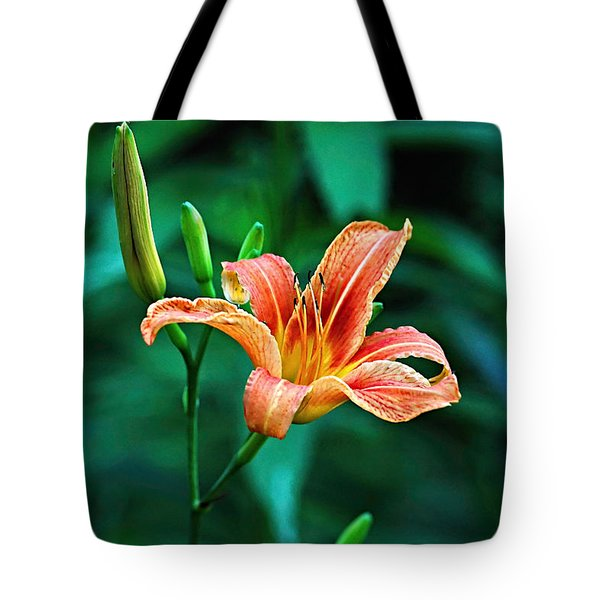 Lily In Woods Tote Bag