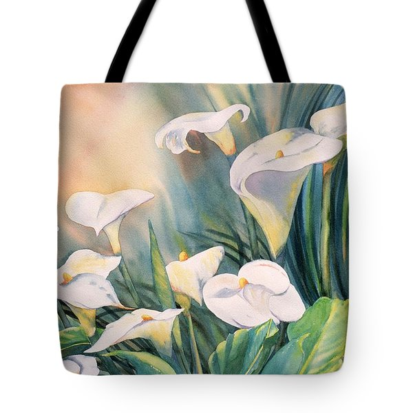 Lily Light Tote Bag by Tara Moorman
