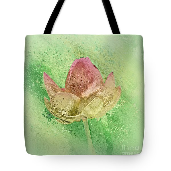 Tote Bag featuring the mixed media Lily My Lovely - S112sqc88 by Variance Collections