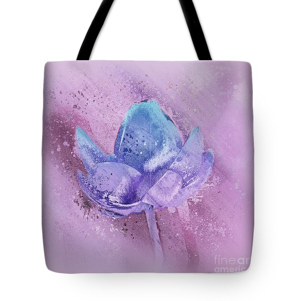Tote Bag featuring the digital art Lily My Lovely - S113sqc77 by Variance Collections
