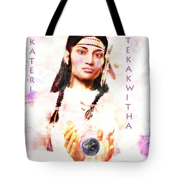 Tote Bag featuring the painting Lily Of The Mohawks 3 by Suzanne Silvir