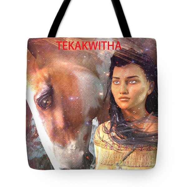 Tote Bag featuring the painting Lily Of The Mohawks by Suzanne Silvir