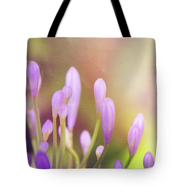 Lily Of The Nile Buds In Summer  Tote Bag