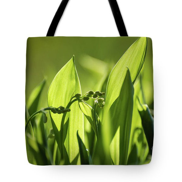 Tote Bag featuring the photograph Lily Of The Valley Buds by Kennerth and Birgitta Kullman