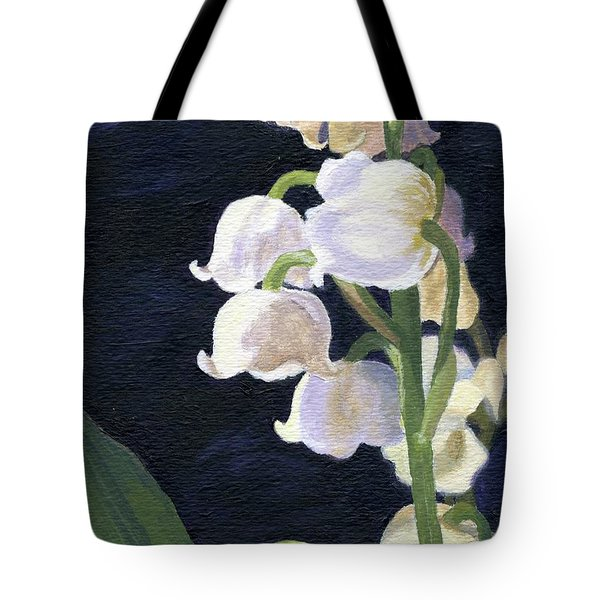 Tote Bag featuring the painting Lily Of The Valley by Lynne Reichhart