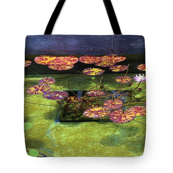 Lily Pad Arrangement Tote Bag