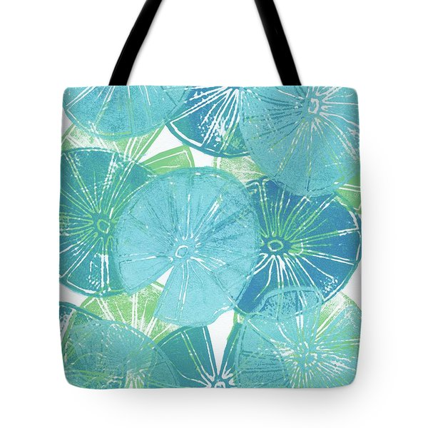 Lily Pad Blues Tote Bag