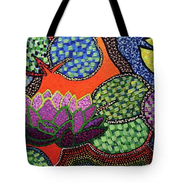 Lily Pad Pizzaz Tote Bag