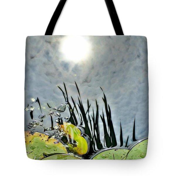 Lily Pad Reflection Tote Bag