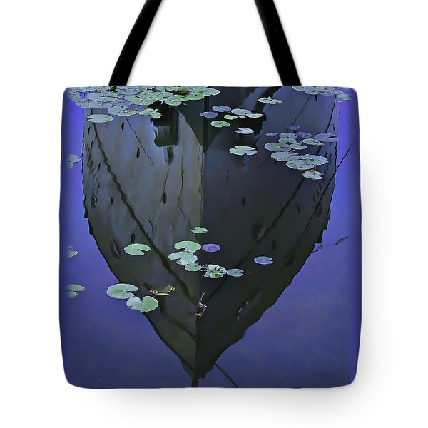 Lily Pads And Reflection Tote Bag