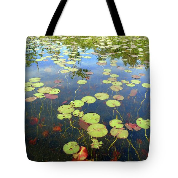 Lily Pads And Reflections Tote Bag
