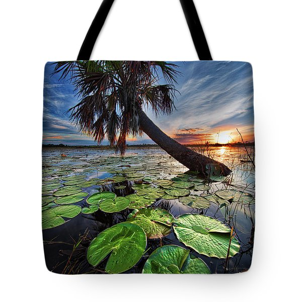 Lily Pads And Sunset Tote Bag