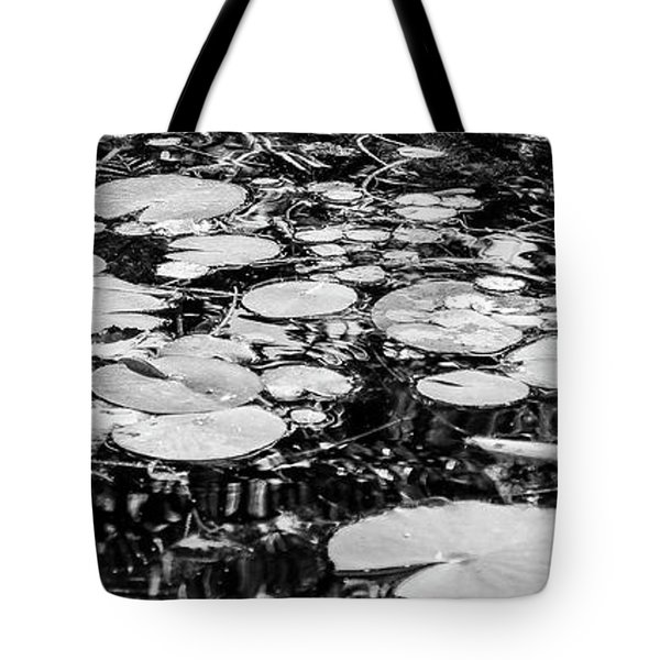 Lily Pads, Black And White Tote Bag