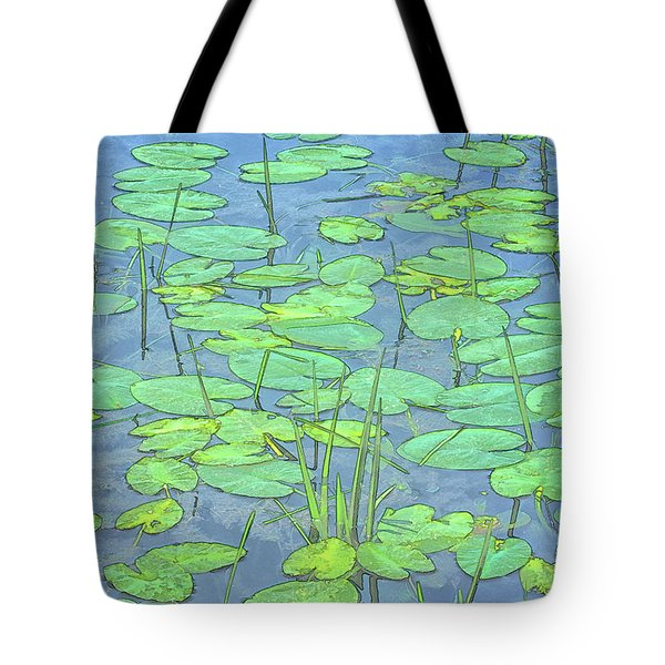 Lily Pads -coloring Book Effect Tote Bag