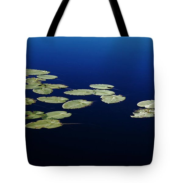 Tote Bag featuring the photograph Lily Pads Floating On River by Debbie Oppermann