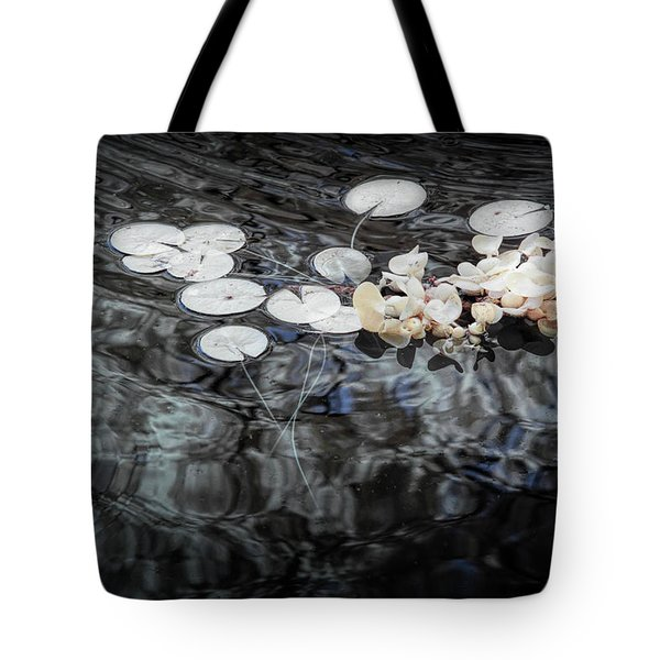 Lily Pads In Infrared Tote Bag